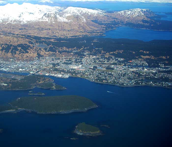 Kodiak Island from the Air